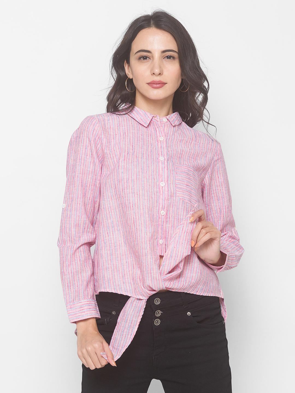 globus | Globus Multi Colour Cotton Poly Stripe Shirt