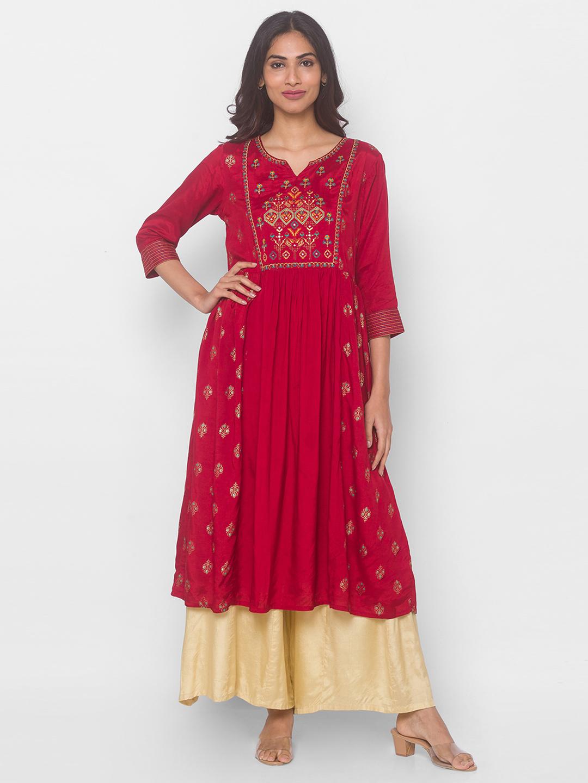 globus | Globus Red Solid Dress