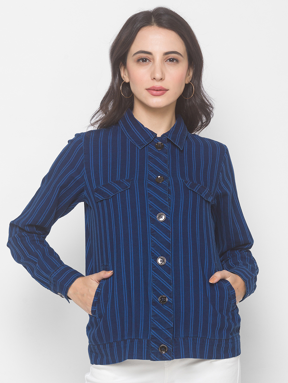 globus | Globus Stripe Blue Jacket