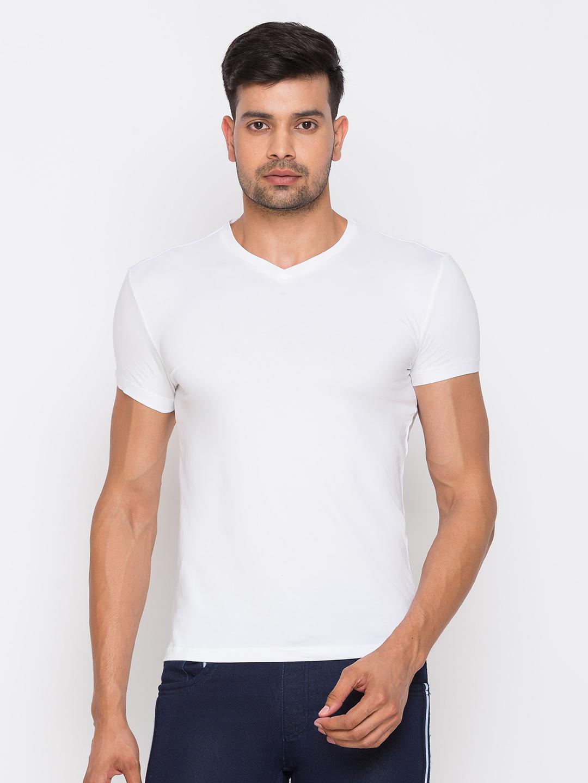 globus | Globus White Solid Tshirts