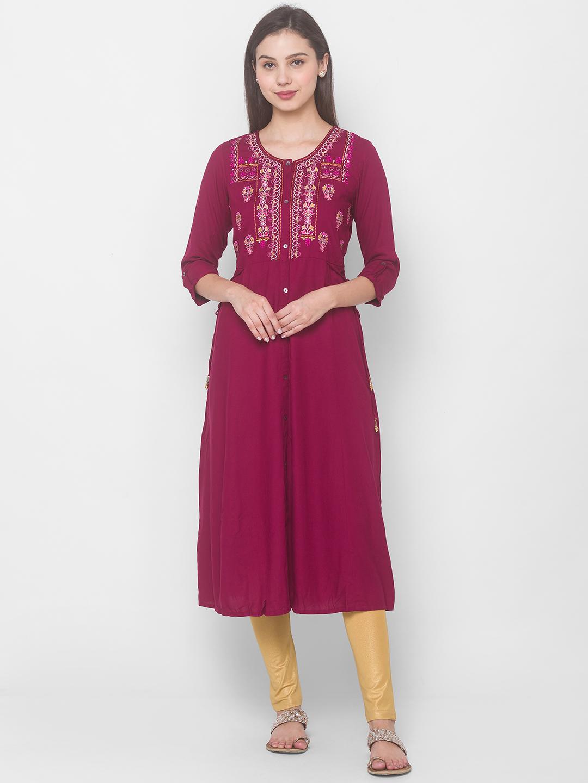 globus | Globus Wine Printed Dress