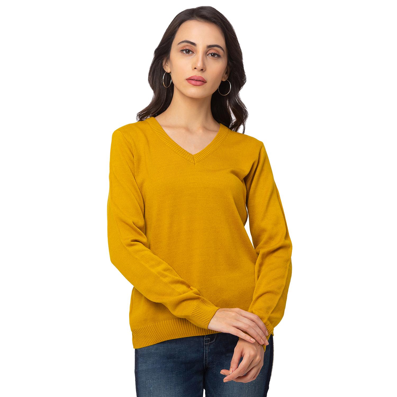 globus   Globus Yellow Solid Sweater