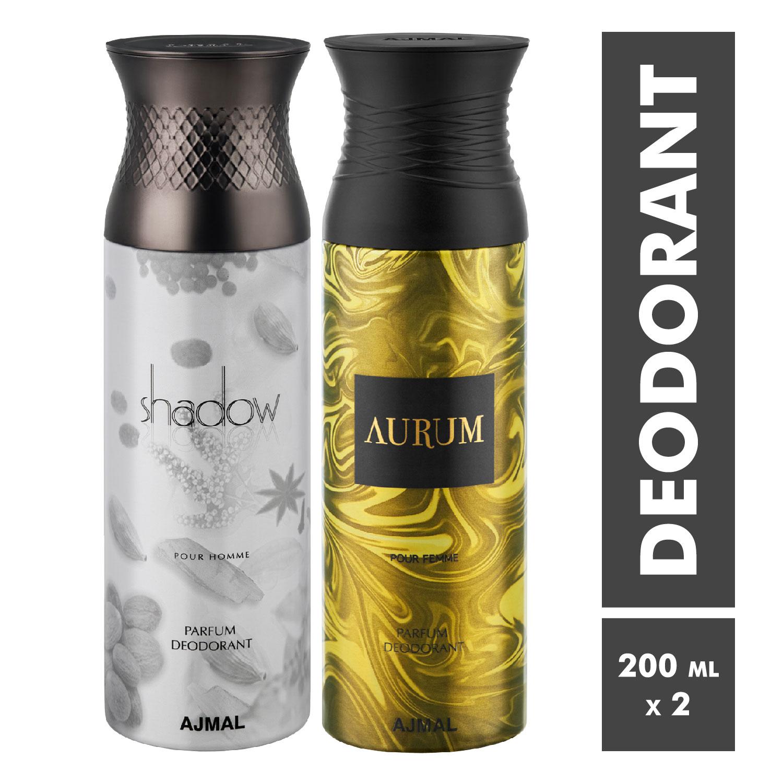 Ajmal | Shadow Homme and Aurum Deodorant Spray - Pack of 2