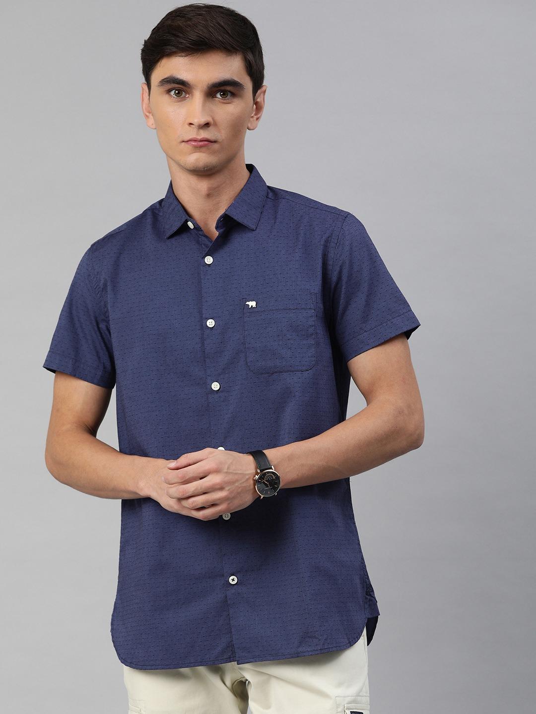 The Bear House   Men's Short Sleeves Dobby Shirt