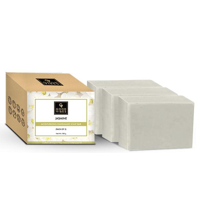 Good Vibes | Good Vibes Jasmine Moisturizing Handmade Soap Bar (Pack of 3) - 100g x 3