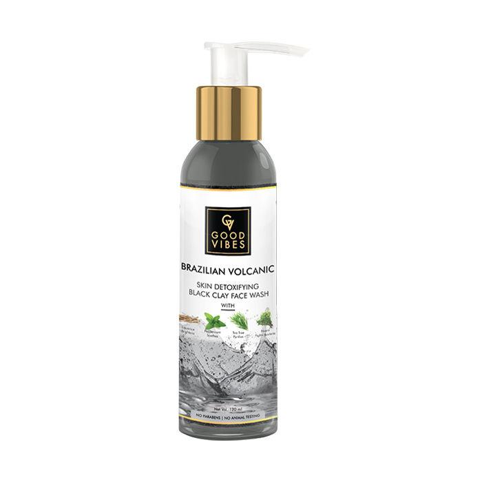 Good Vibes | Good Vibes Brazilian Volcanic Skin Detoxifying Black Clay Face Wash (120 ml)