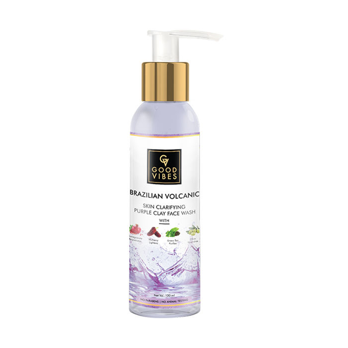 Good Vibes | Good Vibes Brazilian Volcanic Skin Clarifying Purple Clay Face Wash (120 ml)