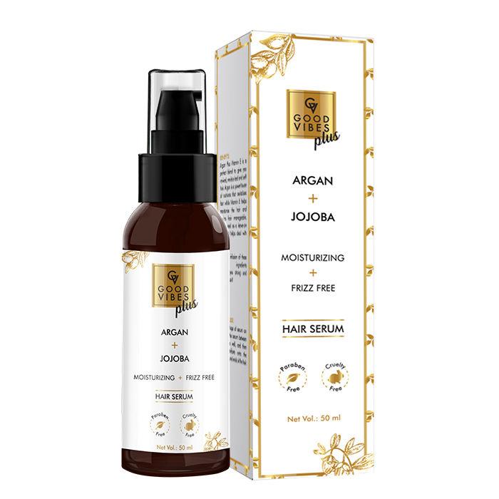 Good Vibes   Good Vibes Plus Argan + Jojoba - Moisturizing + Frizz Free Hair Serum (50 ml)