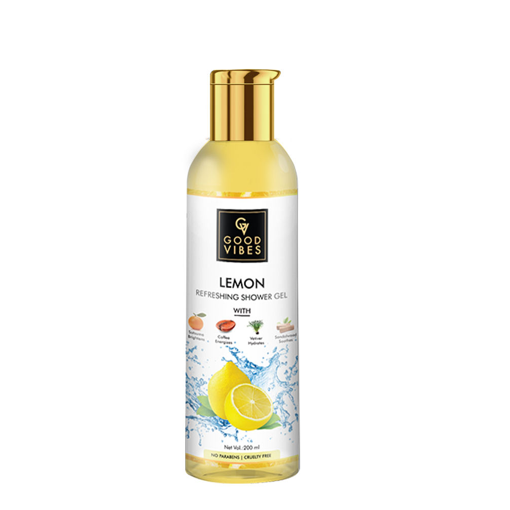 Good Vibes | Good Vibes Lemon Refreshing Shower Gel (Body Wash) with Satsuma for brightening Coffee for energizing Vetiver for hydration Sandalwood for soothing (200 ml)