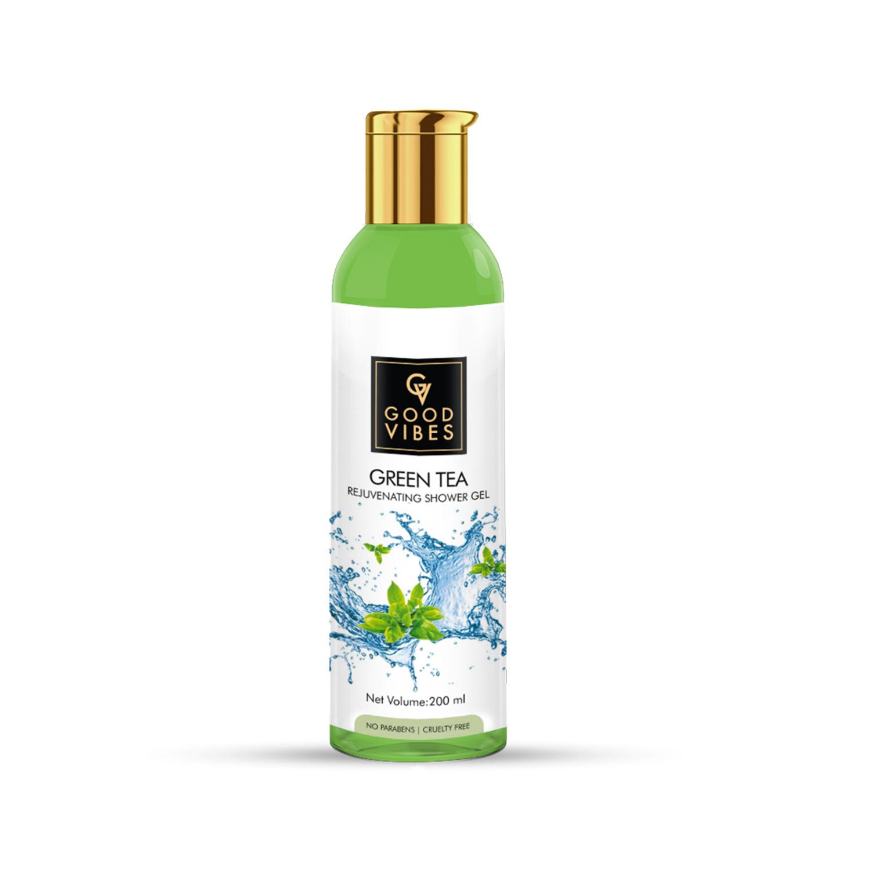 Good Vibes | Good Vibes Rejuvenating Shower Gel (Body Wash) - Green Tea (200 ml)