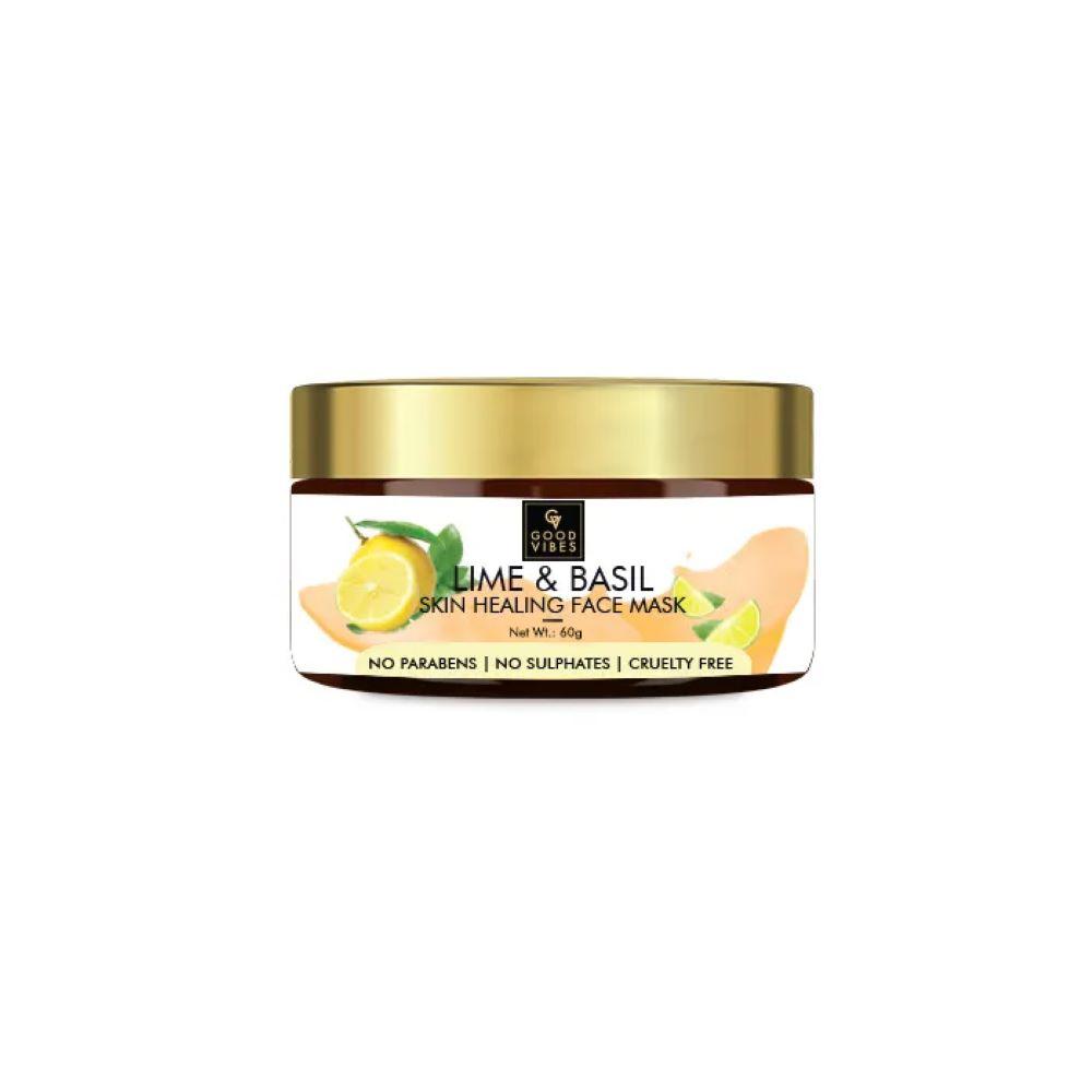 Good Vibes | Good Vibes Skin Healing Face Mask - Lime & Basil (60 g)