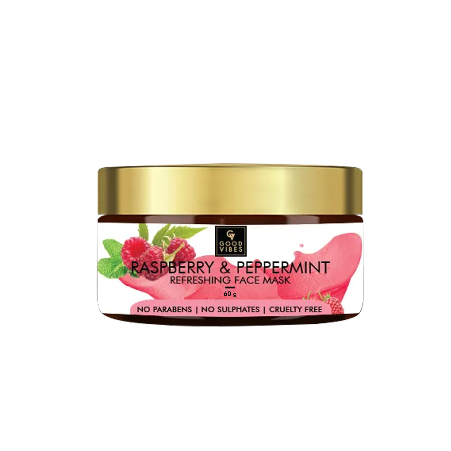 Good Vibes | Good Vibes Refreshing Face Mask - Raspberry & Peppermint (60 g)