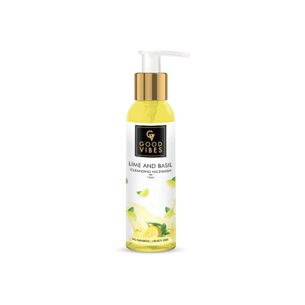Good Vibes | Good Vibes Cleansing Face Wash - Lime & Basil (120 ml)