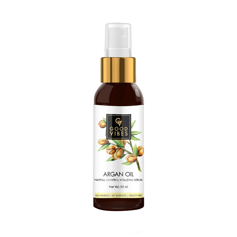 Good Vibes   Good Vibes Hairfall Control Vitalizing Serum - Argan Oil (50 ml)