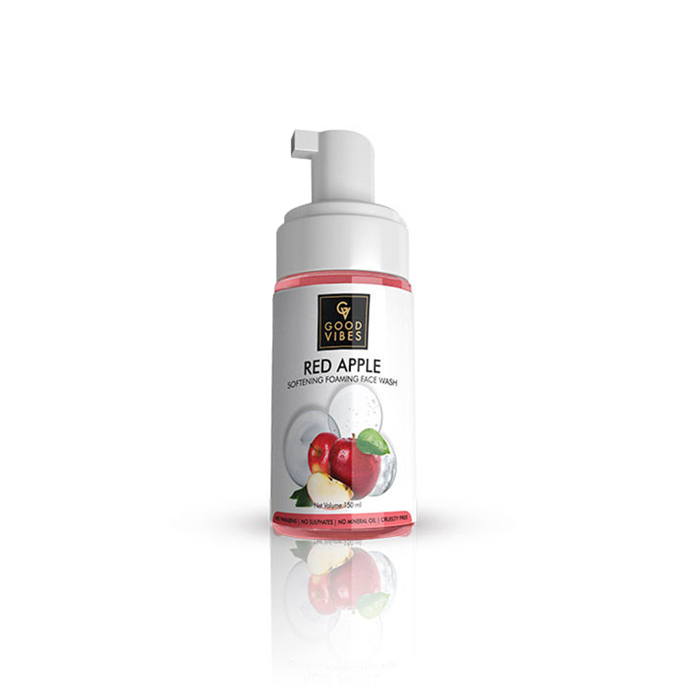 Good Vibes | Good Vibes Softening Foaming Face Wash - Red Apple (150ml)