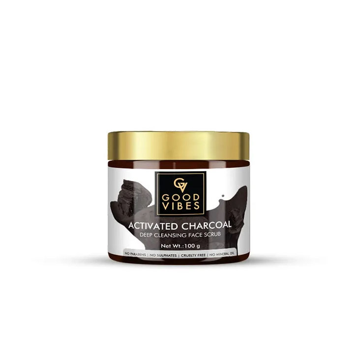 Good Vibes | Good Vibes Deep Cleansing Face Scrub - Activated Charcoal (100 g)