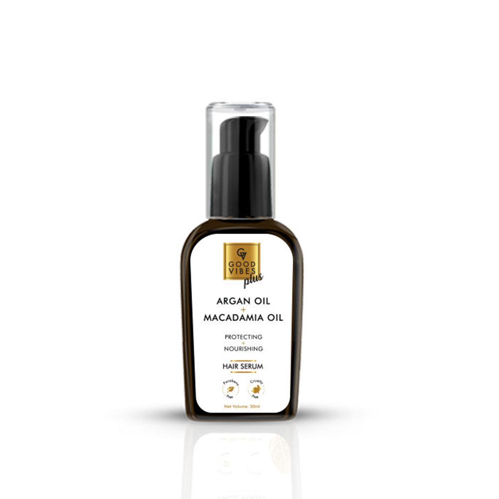 Good Vibes   Good Vibes Plus Hair Serum Protecting + Nourishing - Argan Oil + Macadamia Oil (50 ml)