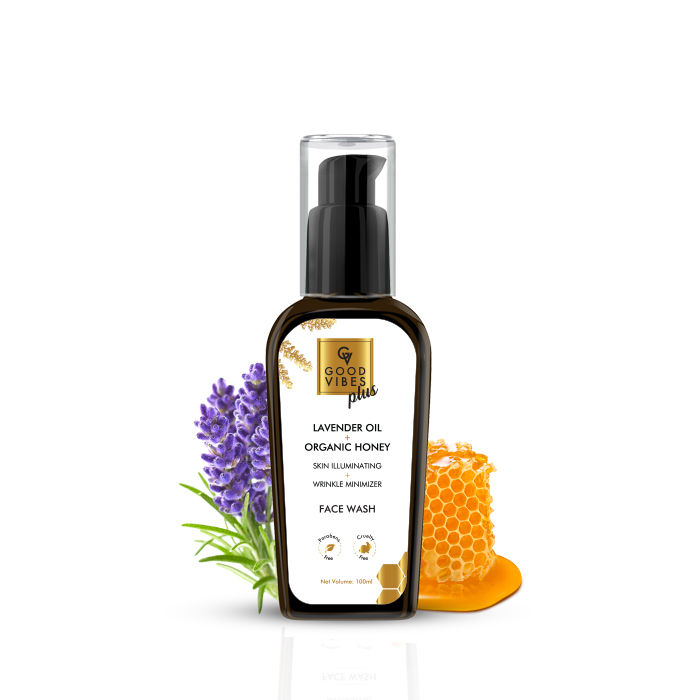 Good Vibes | Good Vibes Plus Skin Illuminating + Wrinkle Minimizer Face Wash - Lavender Oil + Organic Honey (100 ml)