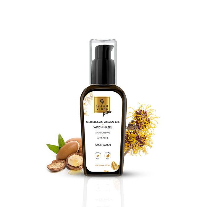 Good Vibes | Good Vibes Plus Moisturising + Anti - Acne Face Wash - Moroccan Argan Oil + Witch Hazel (100 ml)