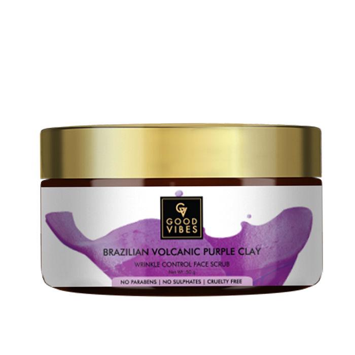 Good Vibes | Good Vibes Brazilian Volcanic Purple Clay Wrinkle Control Face Scrub (50 g)