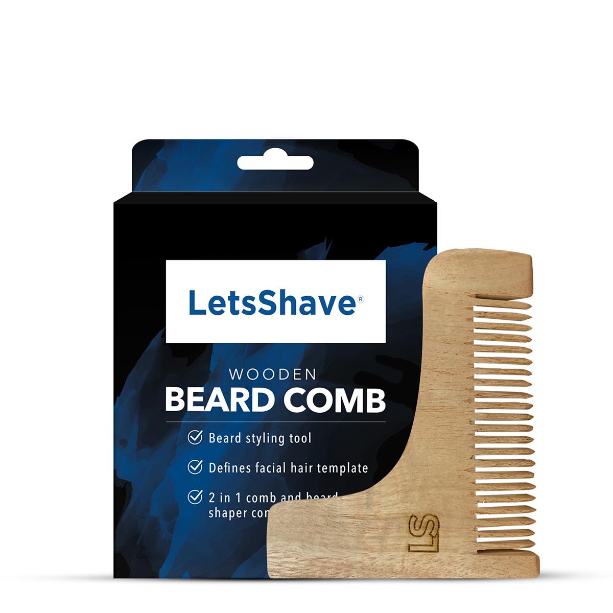 LetsShave | LetsShave Wooden Beard Comb