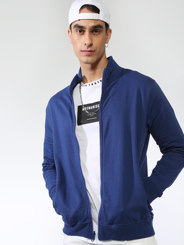 Blue Saint | Blue Saint Men's BlueRegular Fit Sweatshirts