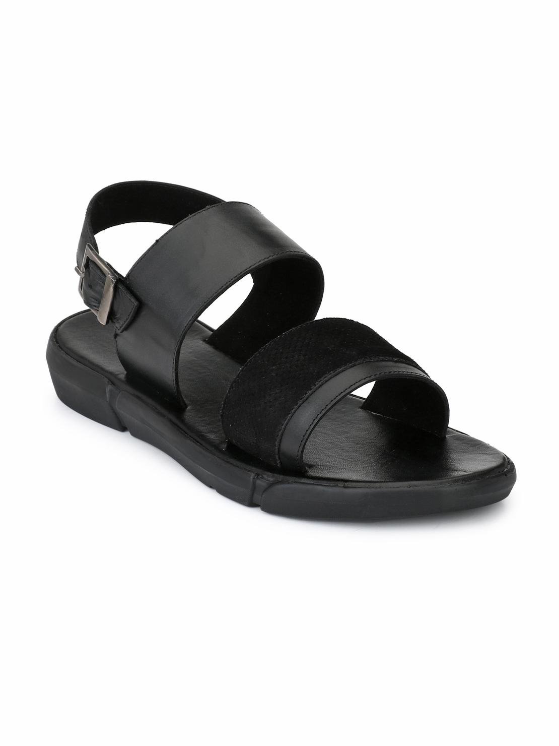 Guava | Guava Men's  Anti-Sweat Leather Black Sandals