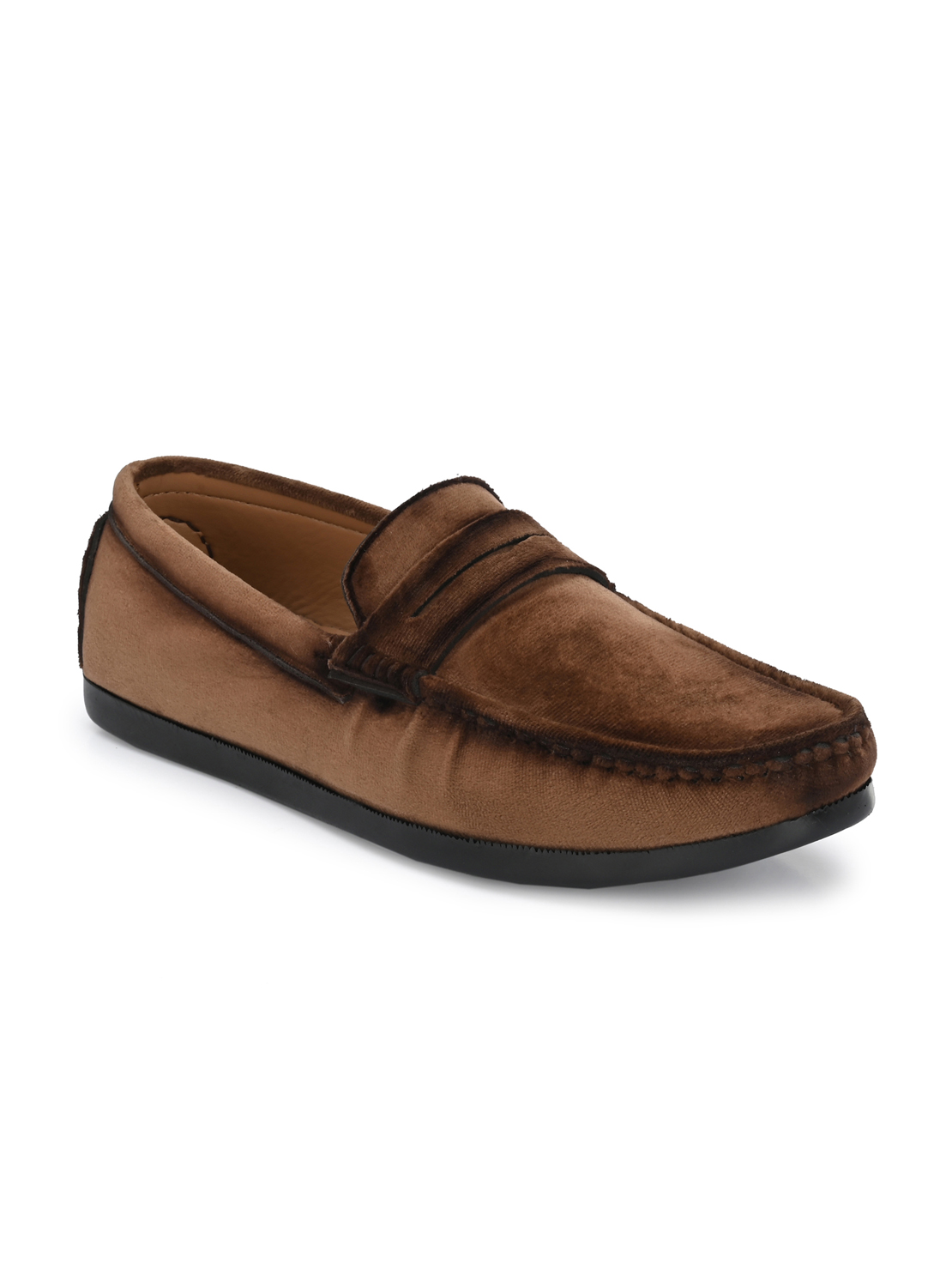 Guava   Guava Charming Velvet Casual Loafer Shoes - Brown