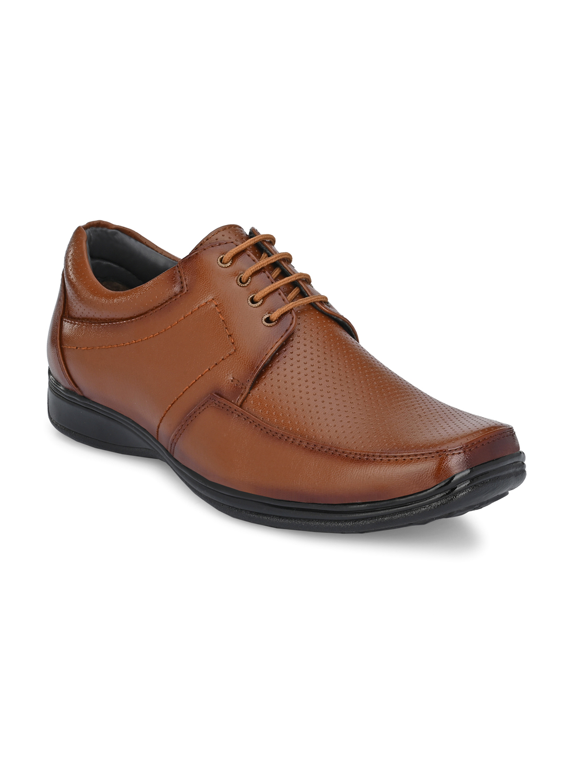 Guava   Guava Men's Square Toe Tan Lace-Up Formal Shoes - 6 (UK)
