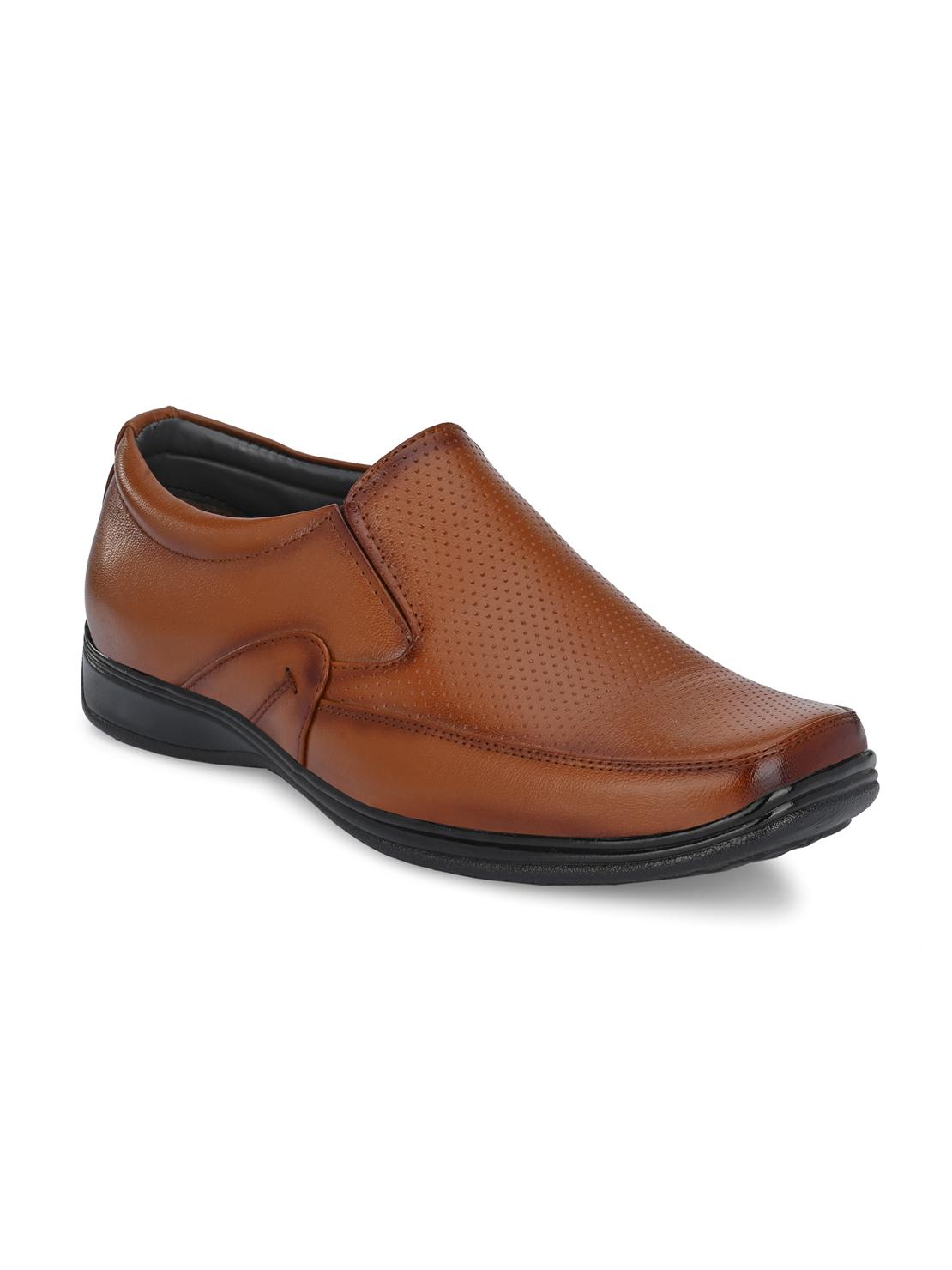Guava | Guava Men's Square Toe Tan Slip-On Formal Shoes - 6 (UK)