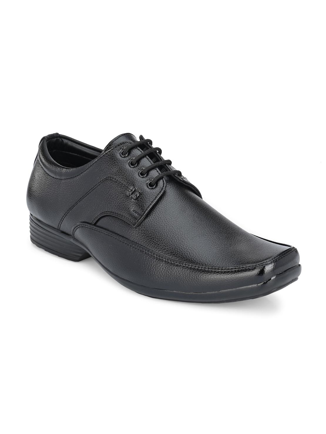 Guava | Guava Men's Square Toe Black Lace-Up Formal Shoes - 6 (UK)