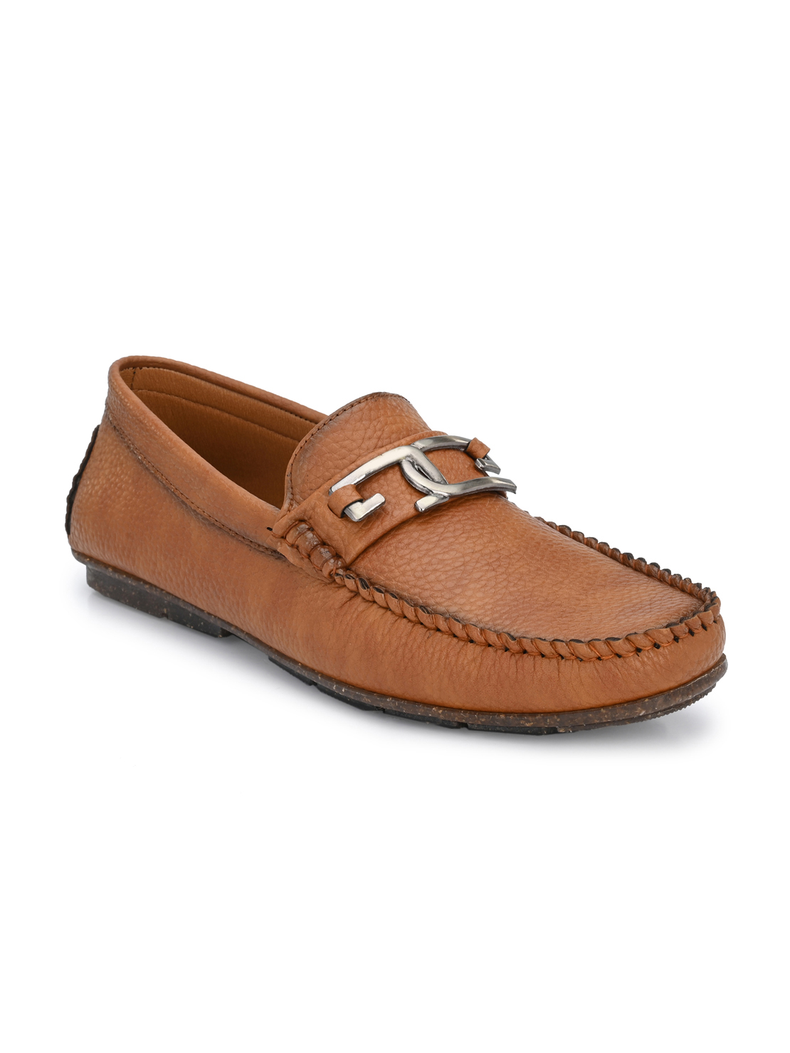 Guava | Guava Men's Driving Loafers Shoes - Dark Tan