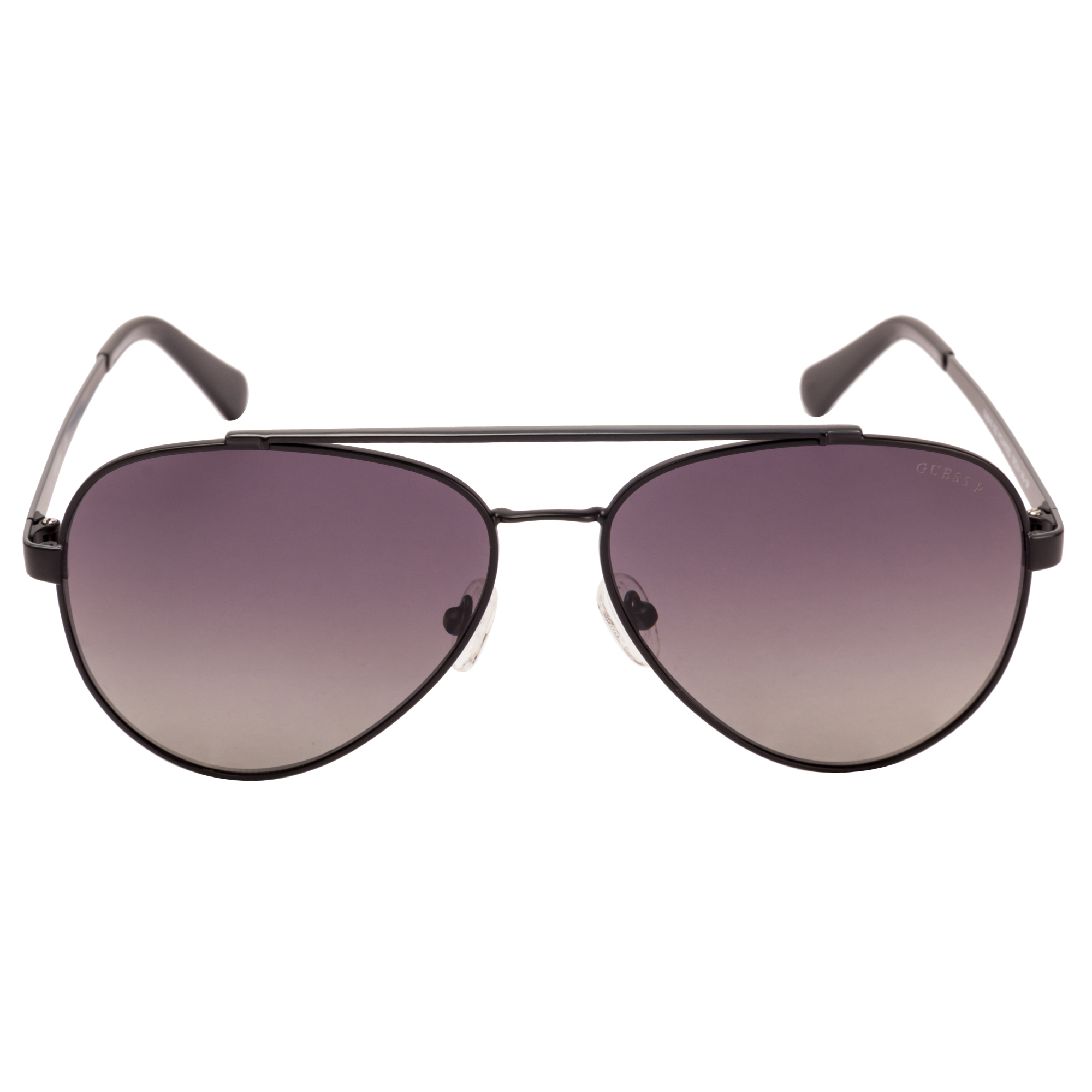 GUESS | Guess Black Frame With Grey Lens Pilot Shape Men Sunglass