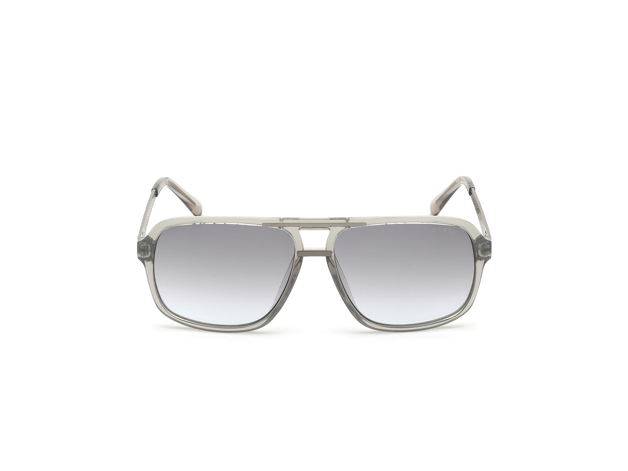 GUESS | Guess Grey Frame With Grey Lens Shield Shape Men Sunglass
