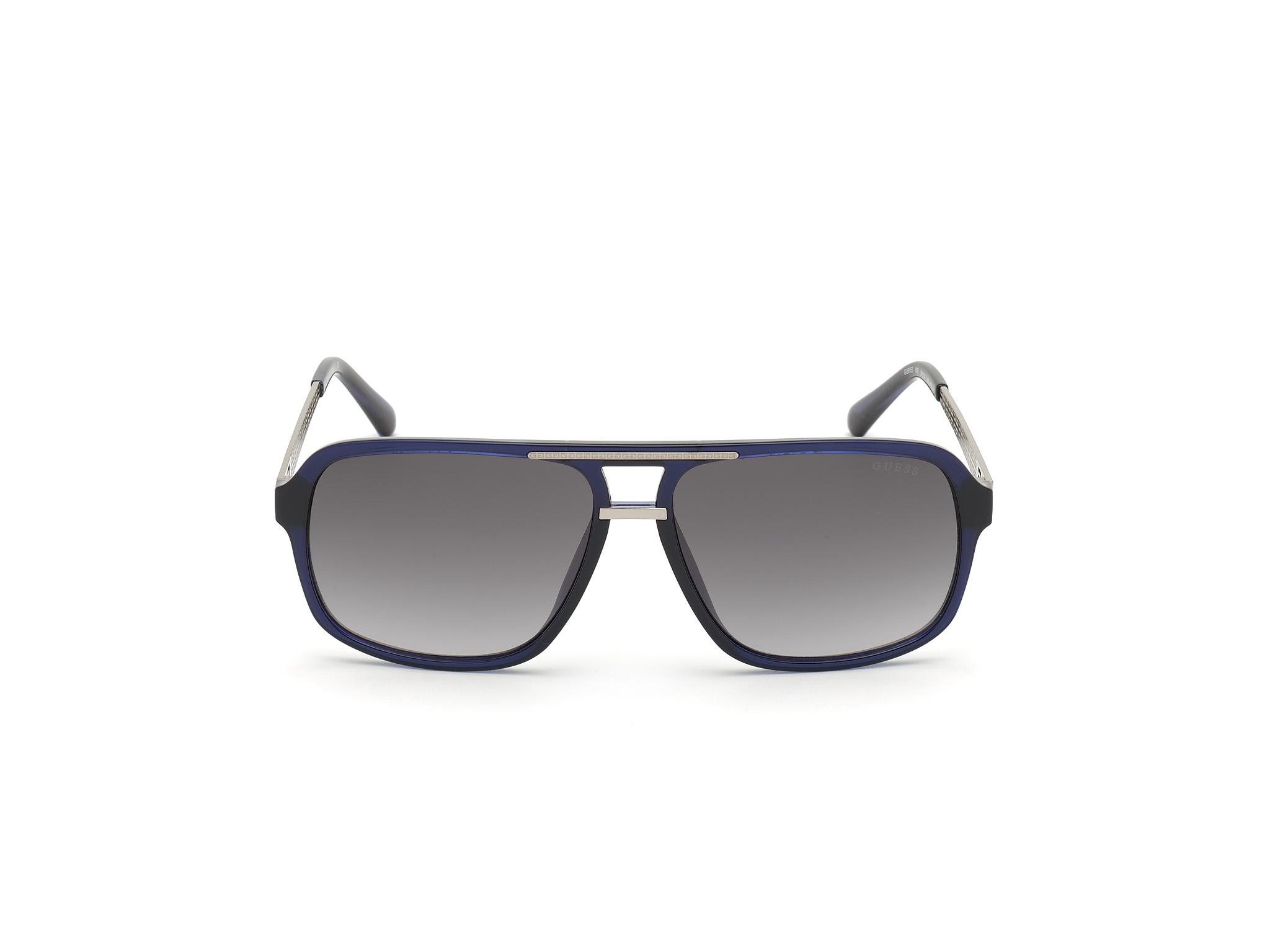 GUESS   Guess Blue Frame With Grey Lens Shield Shape Men Sunglass