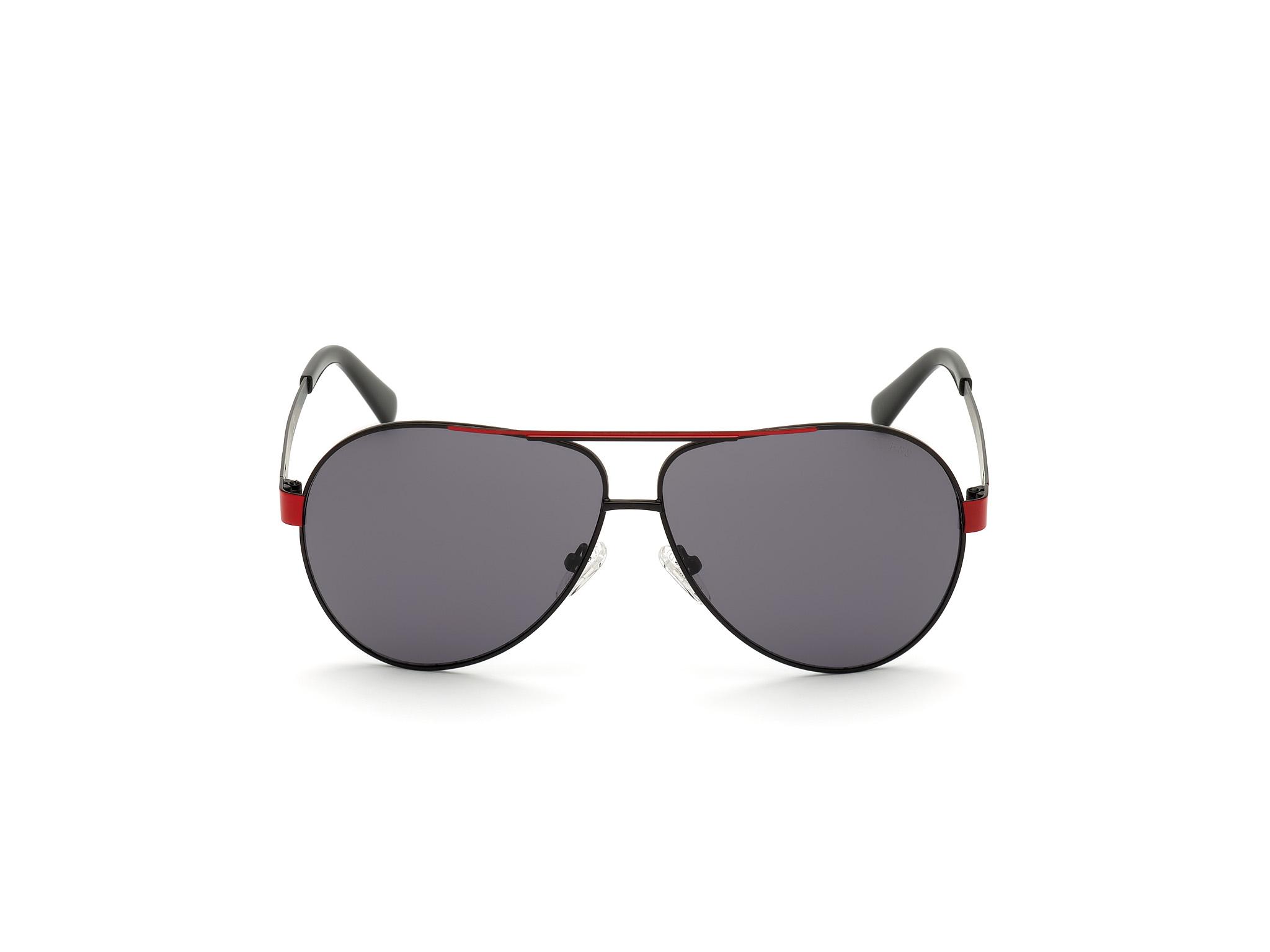 GUESS   Guess Black Frame With Grey Lens Pilot Shape Men Sunglass
