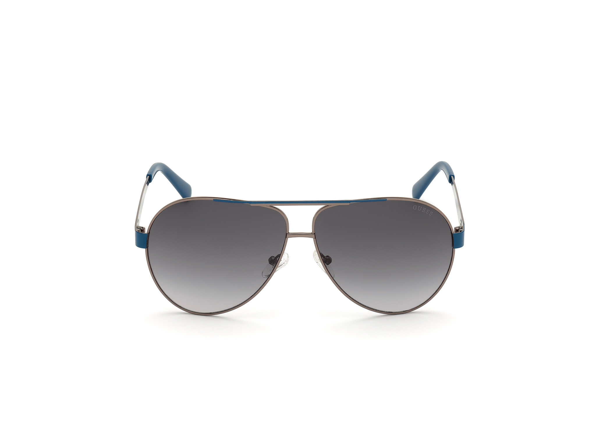 GUESS | Guess Grey Frame With Grey Lens Pilot Shape Men Sunglass