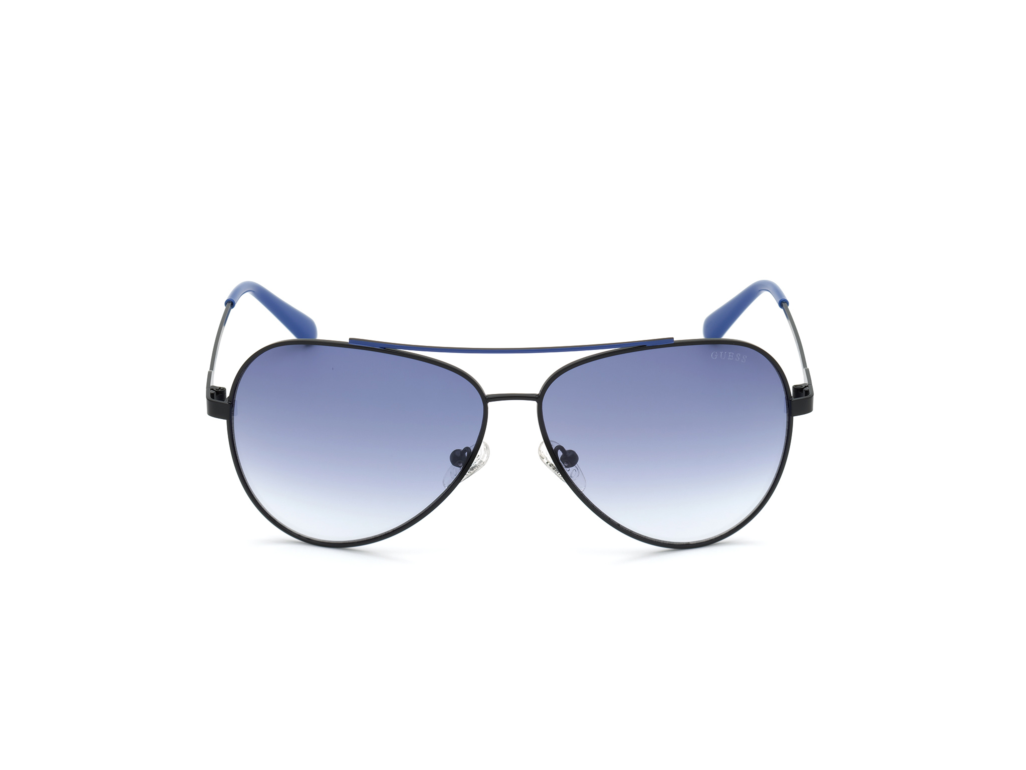 GUESS | Guess Black Frame With Blue Lens Aviator Shape Men Sunglass