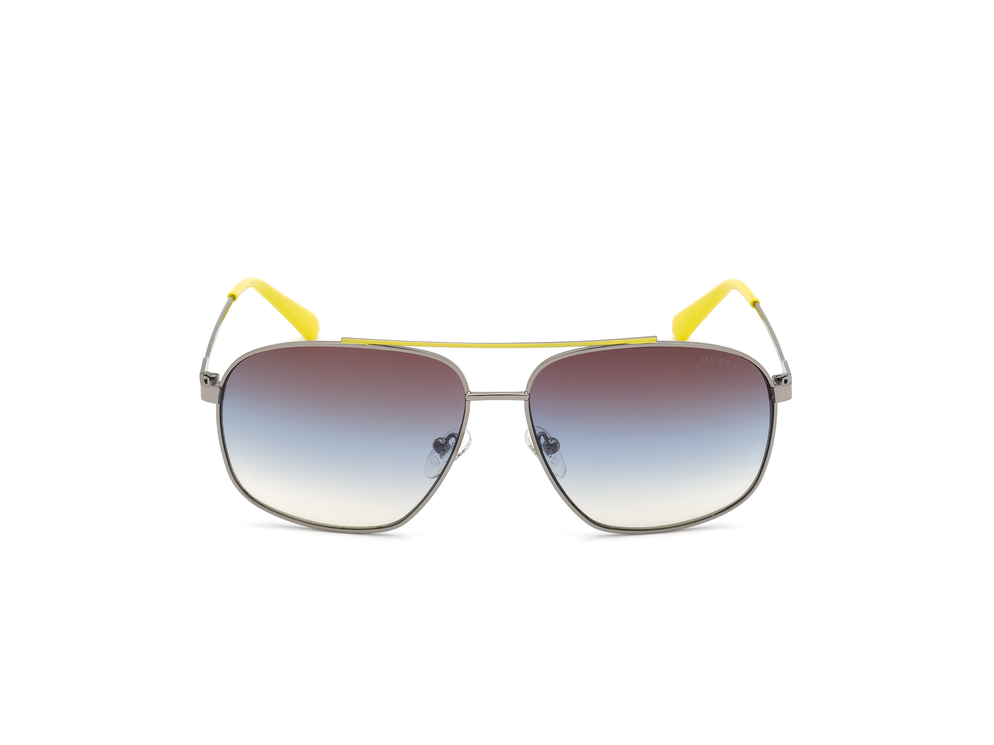 GUESS | Guess Brown Frame With Multi Lens Aviator Shape Men Sunglass
