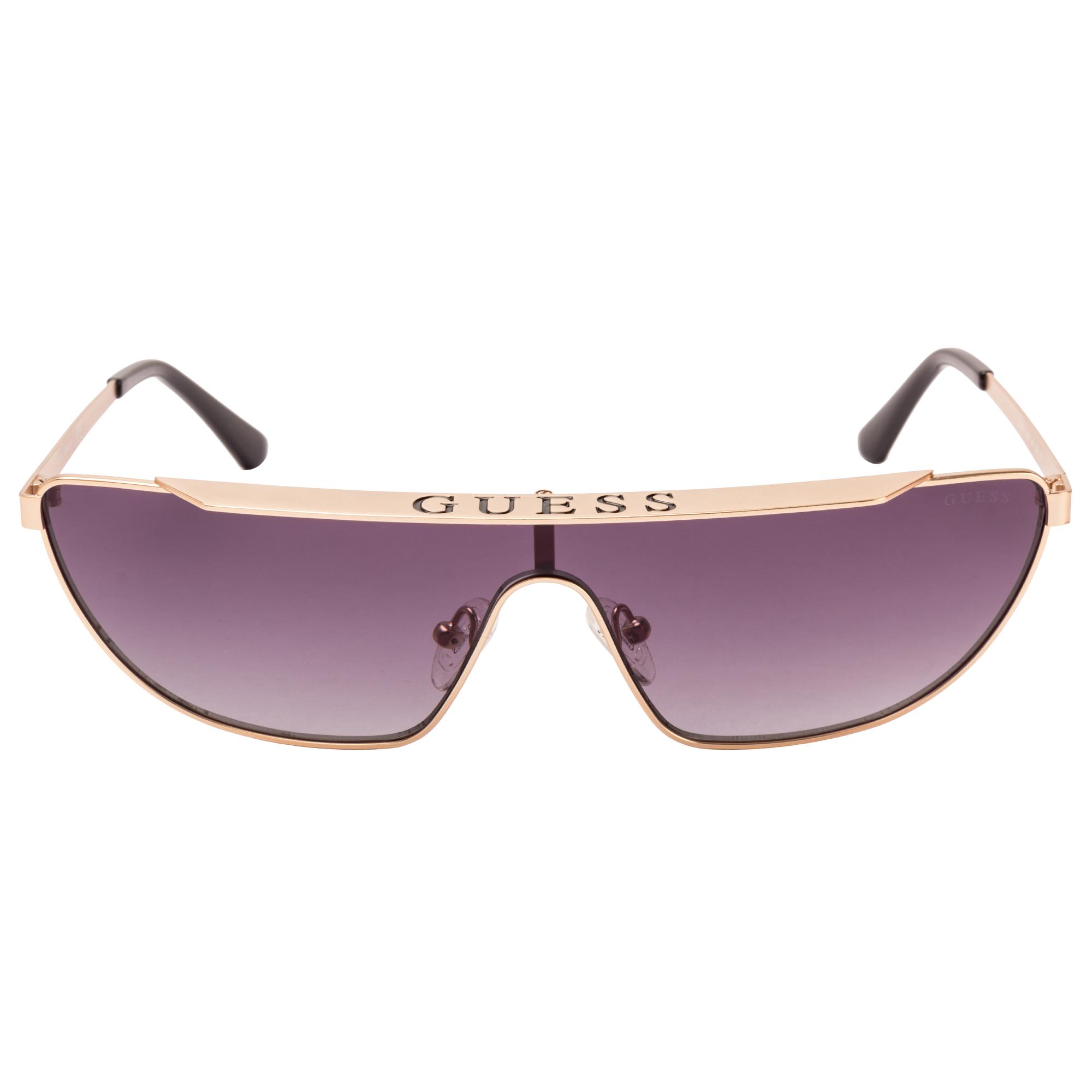 GUESS | Guess Gold Frame With Grey Lens Shield Shape Women Sunglass