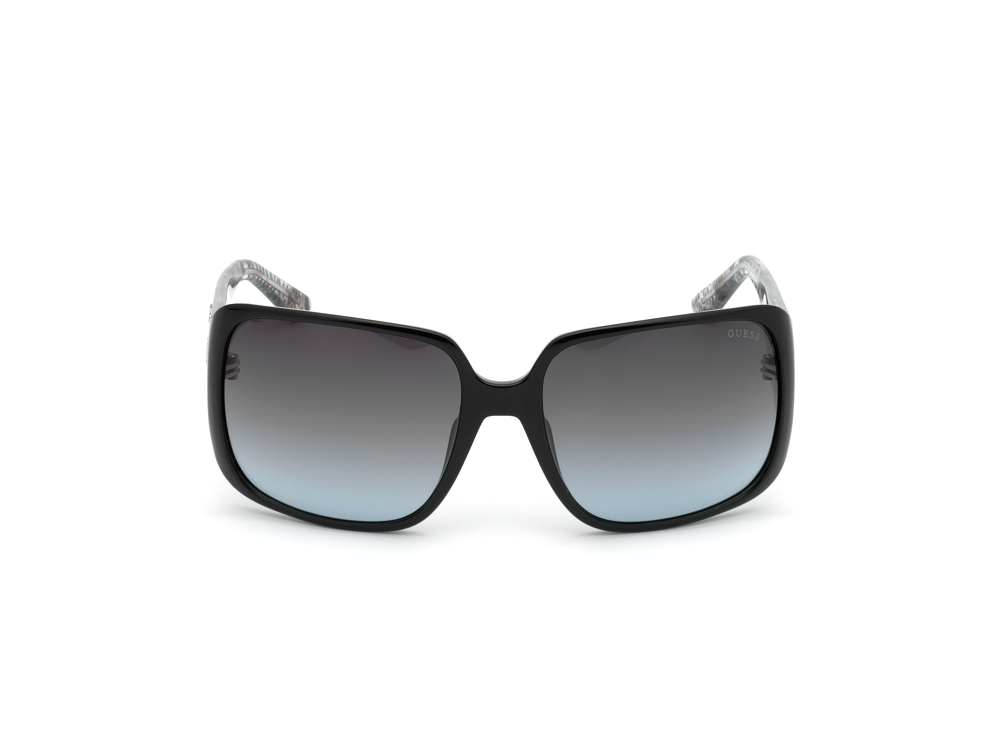 GUESS | Guess Black Frame With Grey Lens Shield Shape Women Sunglass