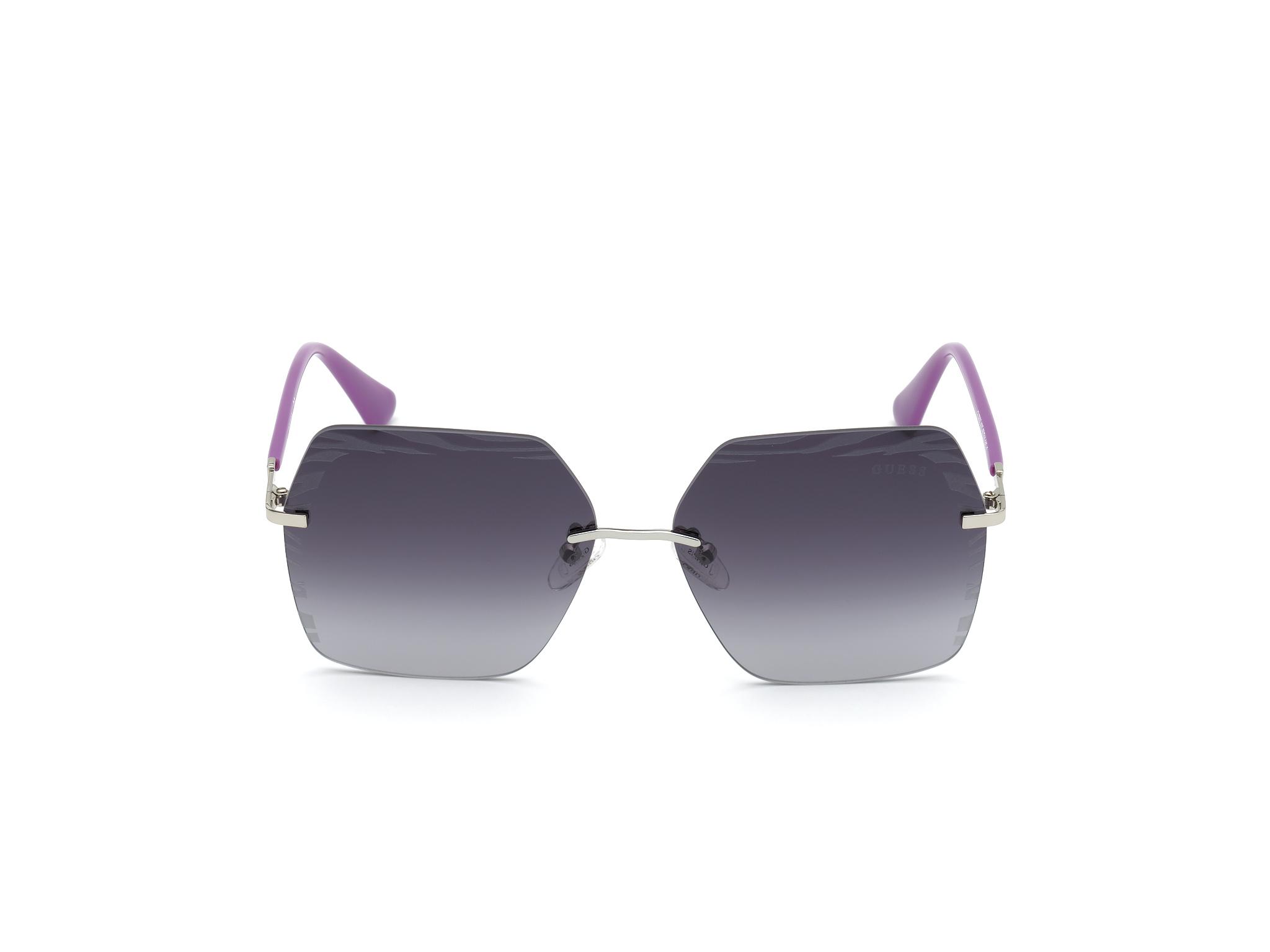 GUESS | Guess Silver Frame With Grey Lens Shield Shape Women Sunglass
