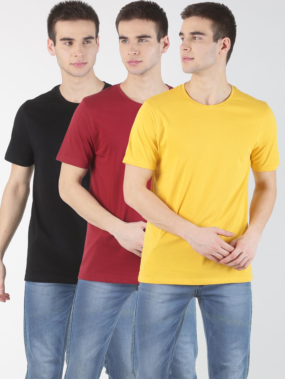 Blue Saint | Blue Saint Men's Solid Multi T-shirt