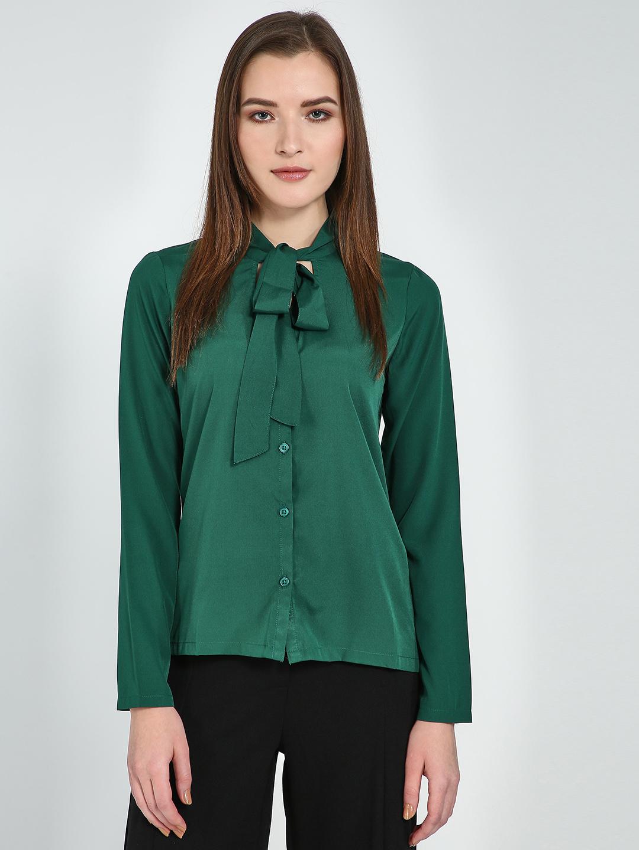 Blue Saint   Blue Saint Women's Green Regular Fit Tops