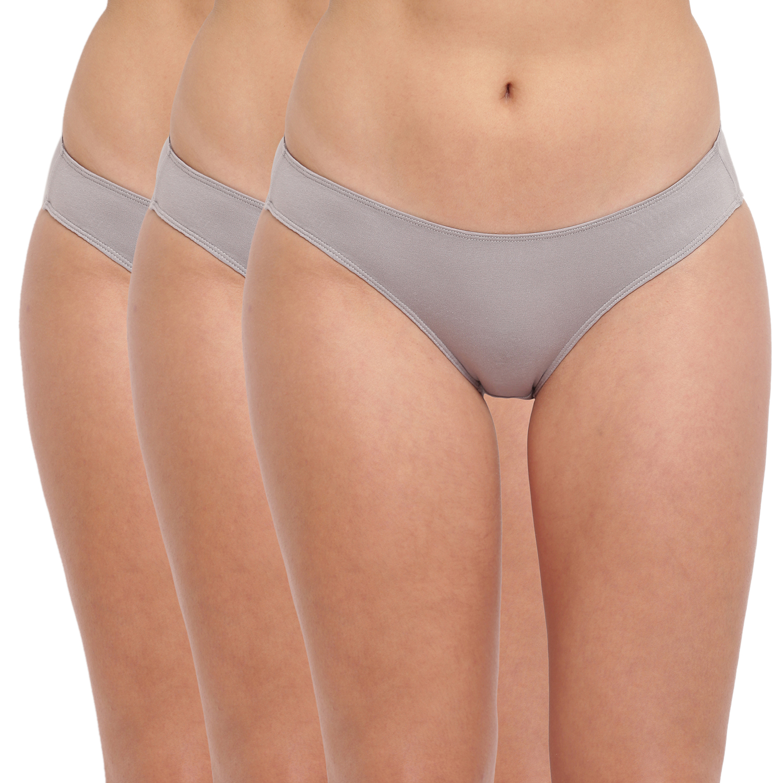 BASIICS by La Intimo | Grace Well Bikini Brief Grey (Pack Of 3)