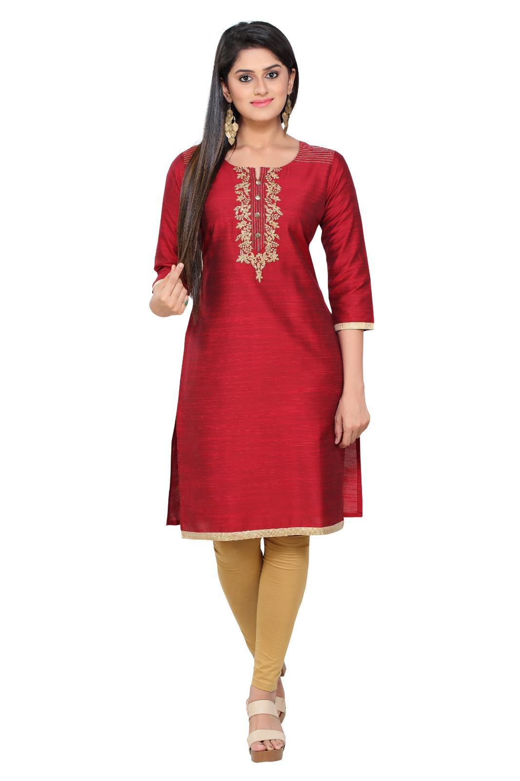 Havva Fashion   South Silk Embroidered Ladies Kurti