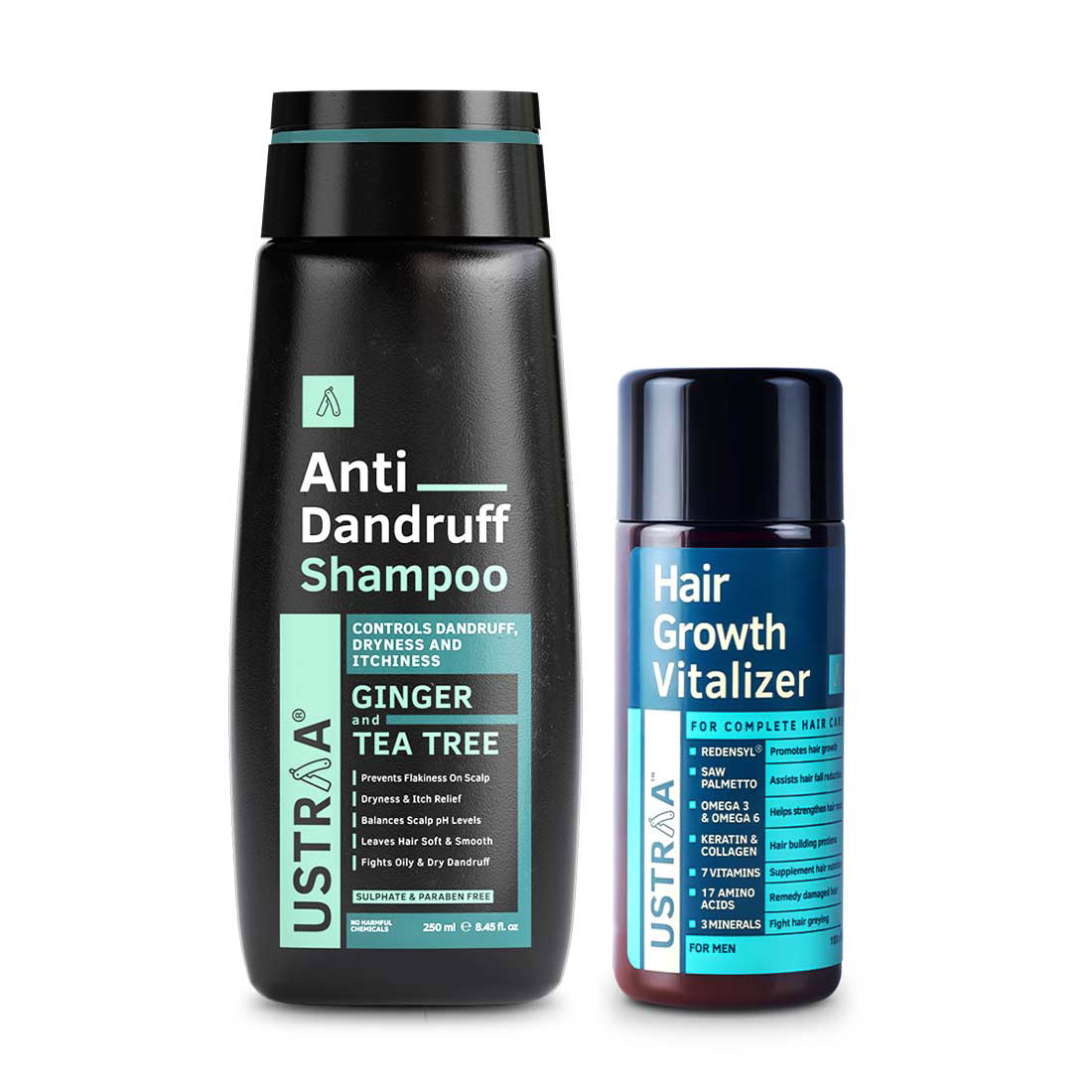 Ustraa | Hair Growth Vitalizer & Anti Dandruff Shampoo(Pack of 2)