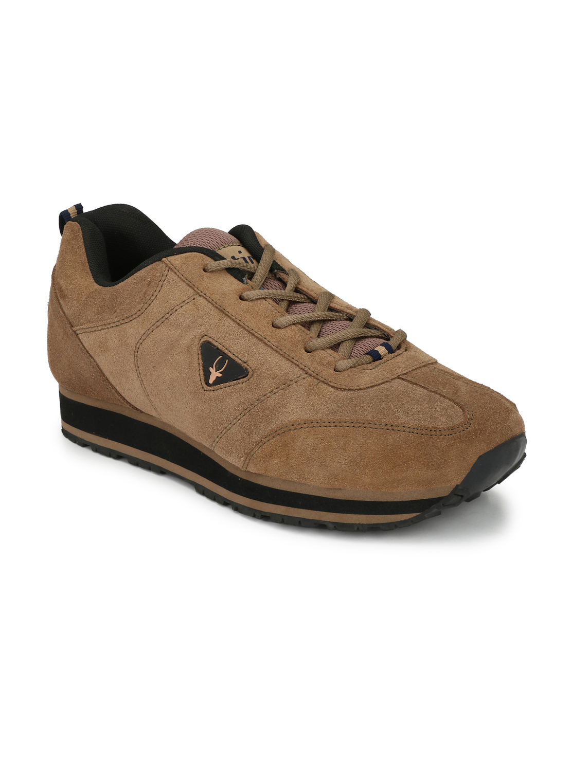 Hirolas   Hirolas Men's Multisport Leather Sneaker Shoes- Camel