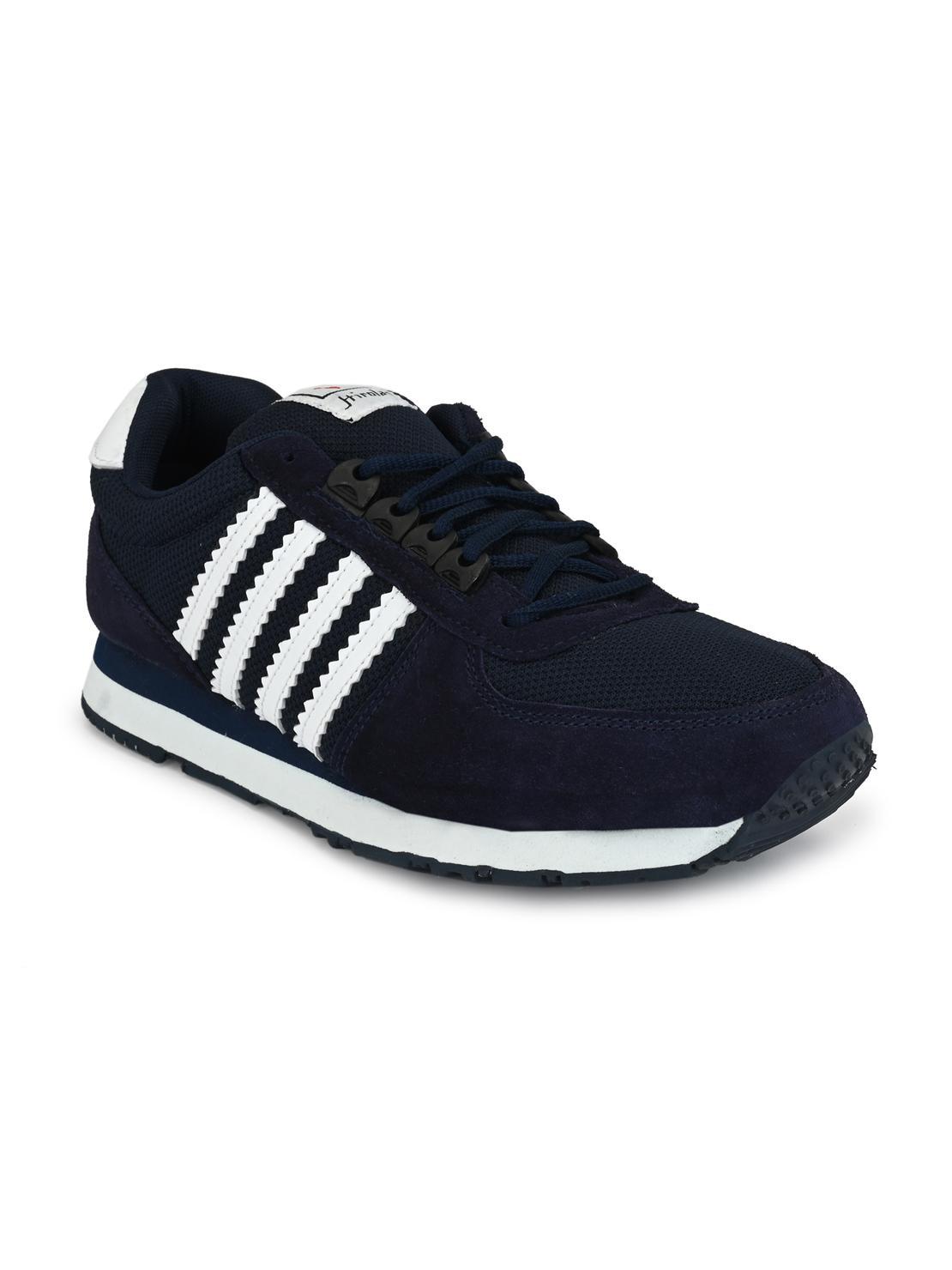 Hirolas | Hirolas Men's Multisport Leather Sneaker Shoes- Blue/White