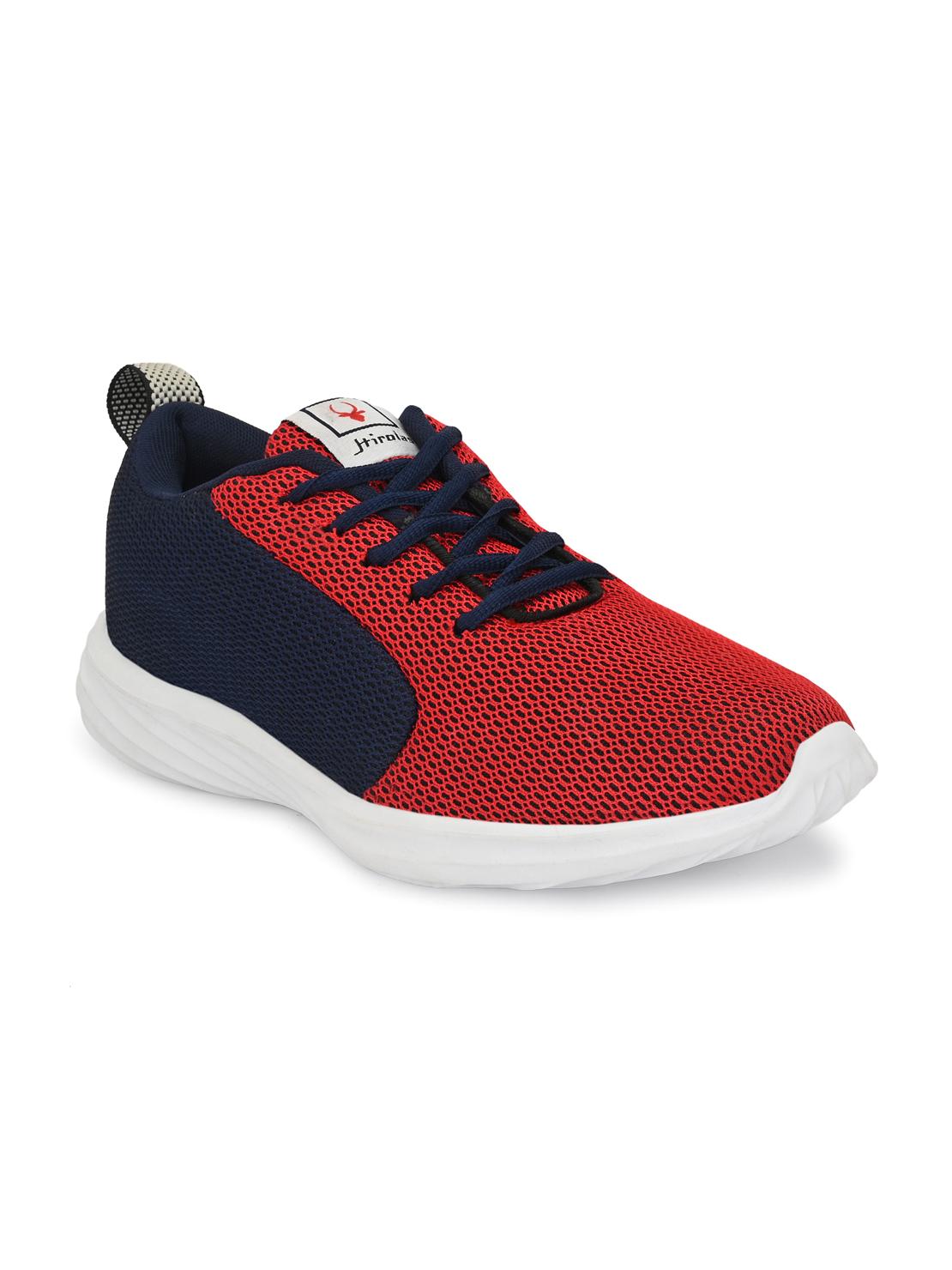 Hirolas   Hirolas Men's Mesh Blue/Red Running/Walking/Gym Sports Sneaker Shoes
